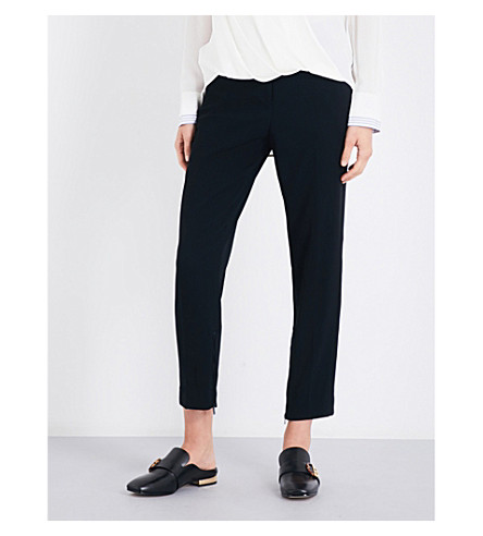 RAG & BONE Willoughby tapered crepe trousers (Black