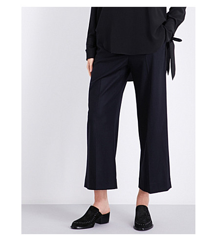 RAG & BONE Crane wool-blend trousers (Navy