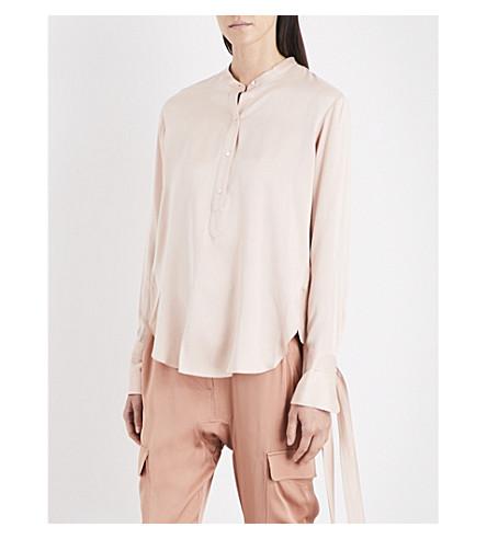 RAG & BONE Dylan silk-charmeuse shirt (Dusty+rose