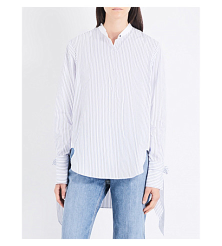 RAG & BONE Dylan striped cotton shirt (Blue+white+stp