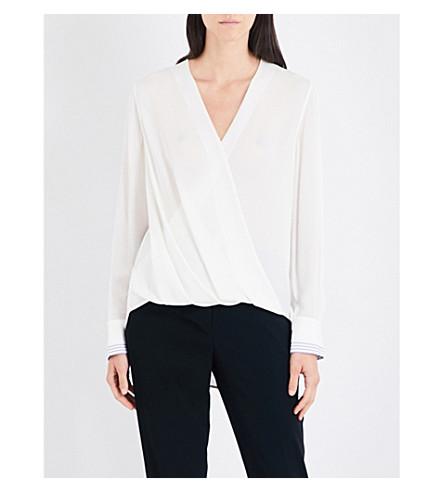 RAG & BONE Victor silk-crepe blouse (Blanc