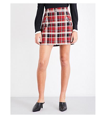 RAG & BONE Leah cotton skirt (Red+multi