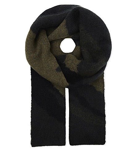RAG & BONE Sinclair wool-blend scarf (Army
