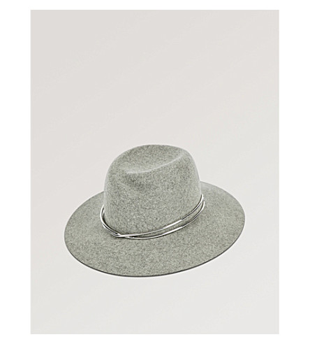 RAG & BONE Zoe felted wool fedora (Lt+hthr+grey