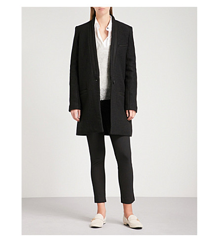 RAG & BONE Single-breasted felted wool coat (Black