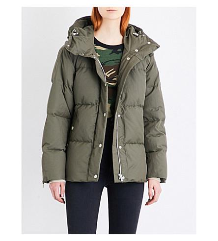 RAG & BONE Leonard hooded down and cotton-blend puffer jacket (Army+green