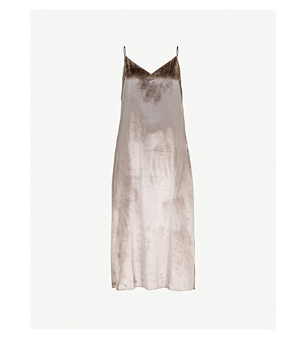 RAG & BONE Parker velvet midi dress (Mauve
