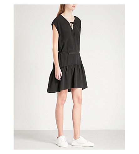 RAG & BONE Blake silk-crepe mini dress (Black