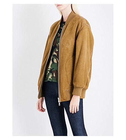 RAG & BONE Elle suede bomber jacket (Olive