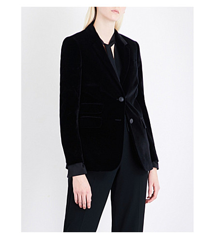RAG & BONE Rona single-breasted velvet blazer (Black