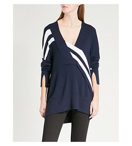 RAG & BONE Grace striped wool jumper (Navy/white