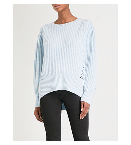 RAG & BONE Athena oversized cashmere jumper (Blue