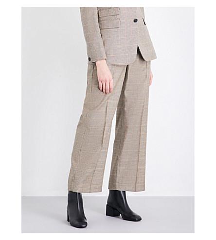 RAG & BONE Sadie wide high-rise wool trousers (Camel/blk