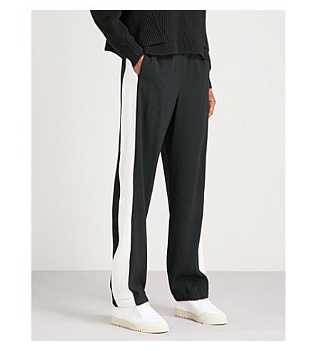 RAG & BONE Pacey contrasting-stripe crepe jogging bottoms (Black