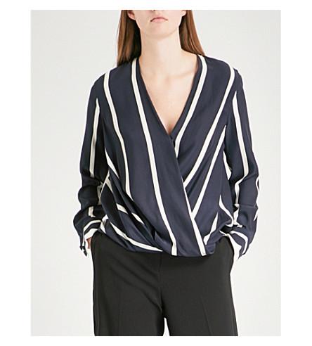RAG & BONE Victor stretch-silk shirt (Salute/white