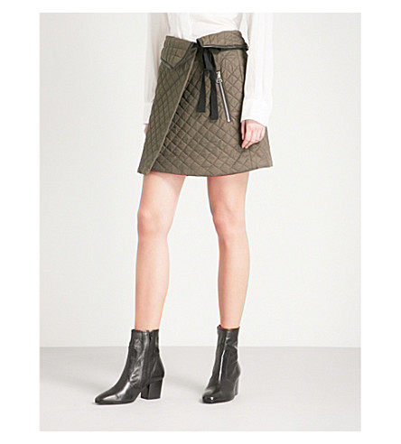 RAG & BONE Jane quilted high-rise mini skirt (Green