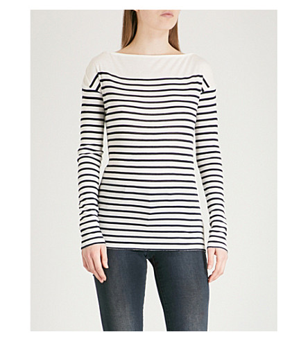 RAG & BONE Madison striped knitted top (Ivory/navy