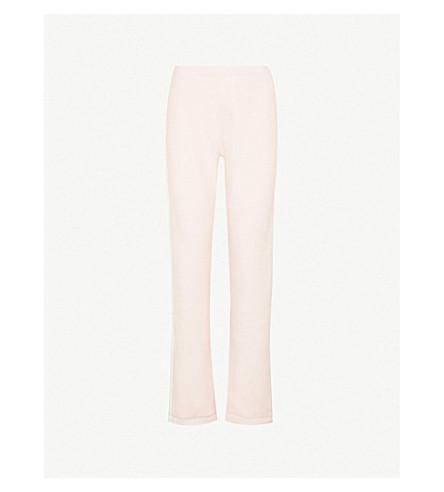 RAG & BONE Racer straight cotton-jersey jogging bottoms (Deep pink