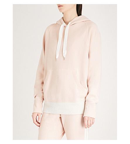 RAG & BONE Colour Block cotton-jersey hoody (Deep+pink