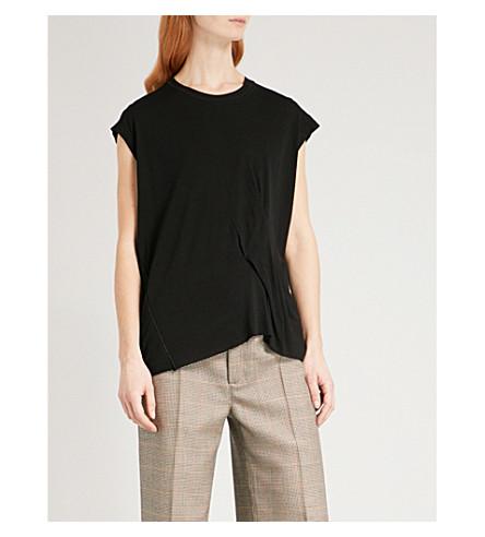RAG & BONE Raw-hem wool-blend T-shirt (Black