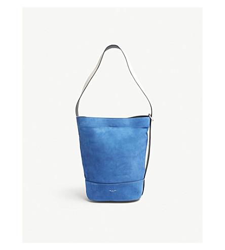 RAG & BONE Walker suede and leather sling bag (Deep+blu