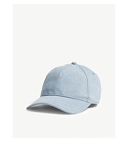 RAG & BONE Marilyn washed denim cotton strapback cap (Lt+wash+denim