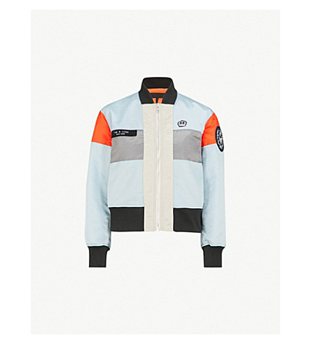 RAG & BONE Riley contrasting-panel shell jacket (Sea+blue