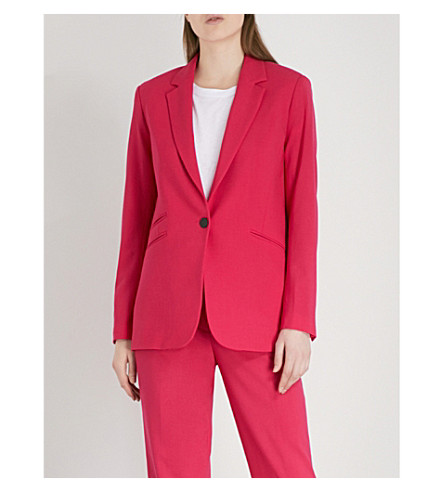 RAG & BONE Ridley single-breasted wool blazer (Pink