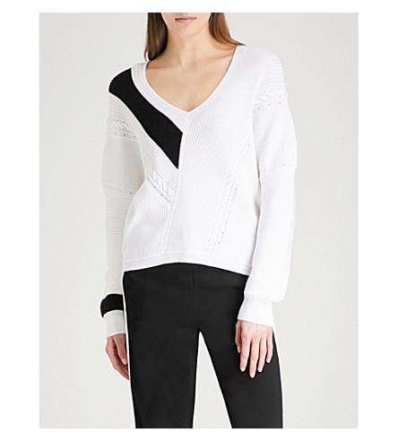 RAG & BONE Cricket V-neck cotton jumper (White