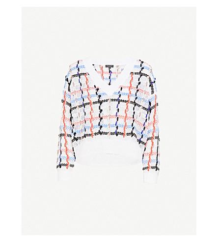 RAG & BONE Lloyd chunky-knit cotton and wool-blend jumper (White