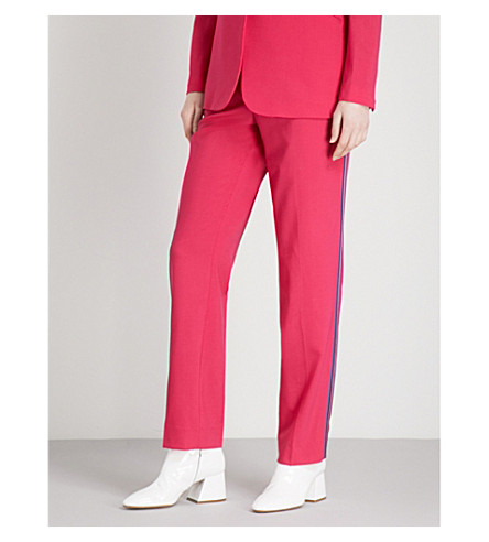 RAG & BONE Oman straight high-rise wool-blend trousers (Pink