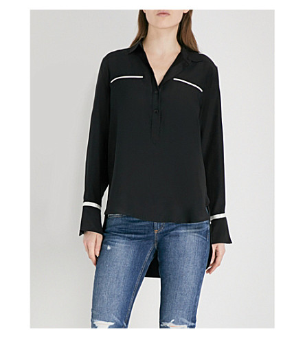 RAG & BONE Martel silk shirt (Black