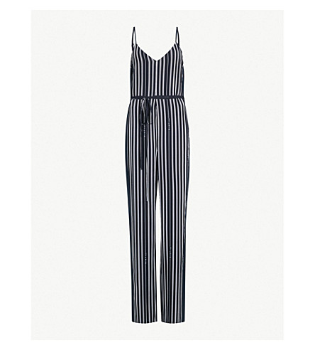 RAG & BONE Rosa striped crepe jumpsuit (Navy+stripe