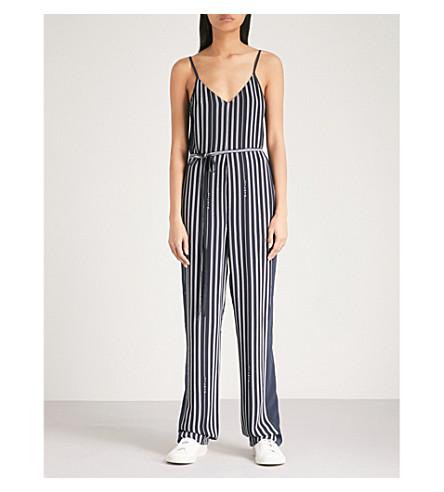 RAG & BONE Rosa striped crepe jumpsuit (Navy+stripe