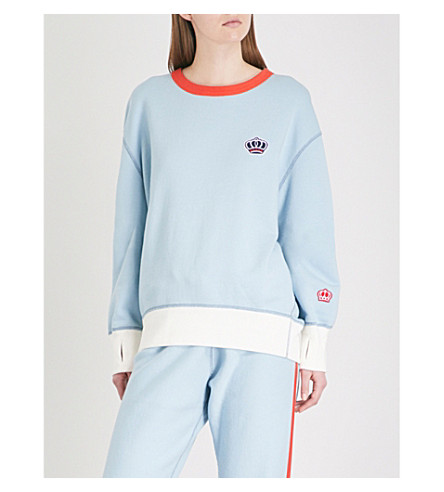 RAG & BONE Combat cotton-jersey sweatshirt (Pale+aqua