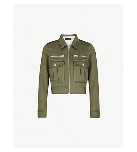 RAG & BONE Pike cotton-twill jacket (Dark+olive