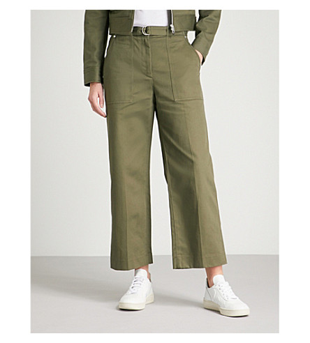 oliva corto BONE RAG cortado de verde Lora amp; pantalón amp; oscuro algodón O7BBqfwv