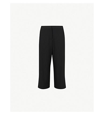 RAG & BONE Molly high-rise wide-leg cotton-blend trousers (Black