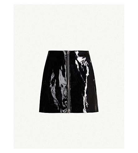 RAG & BONE Heidi zip-up patent leather skirt (Black