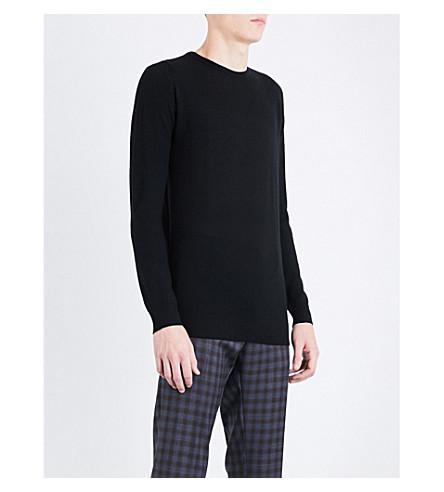 JOHN SMEDLEY 1.Singular merino wool jumper (Black