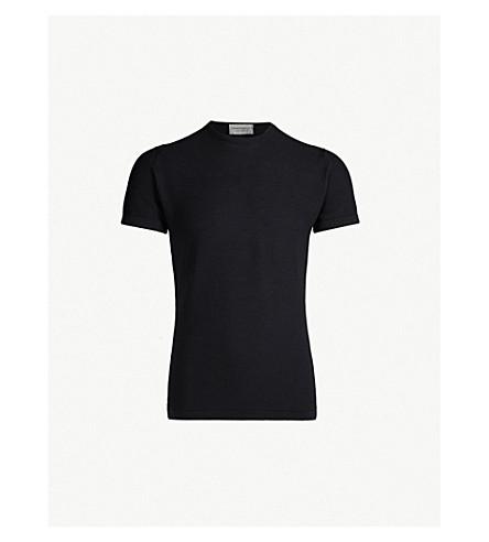 JOHN SMEDLEY Singular wool T-shirt (Midnight