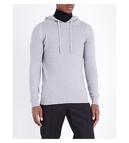 JOHN SMEDLEY 4.Singular merino wool hoody (Bardot+grey
