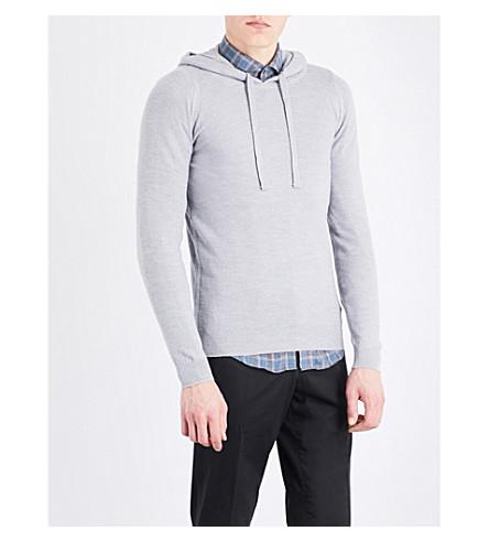 JOHN SMEDLEY 4.Singular merino wool hoody (Bardot