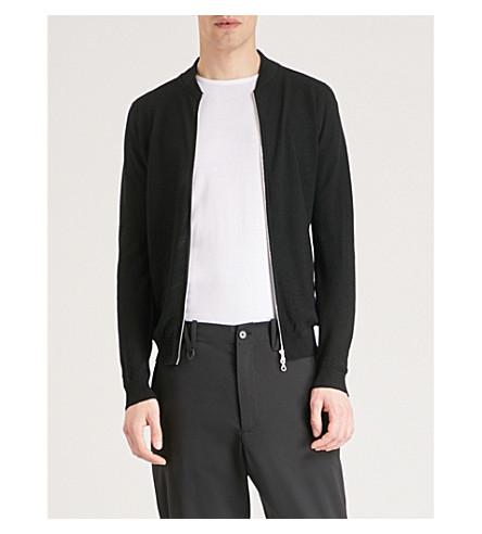 JOHN SMEDLEY 6.Singular wool bomber jacket (Black
