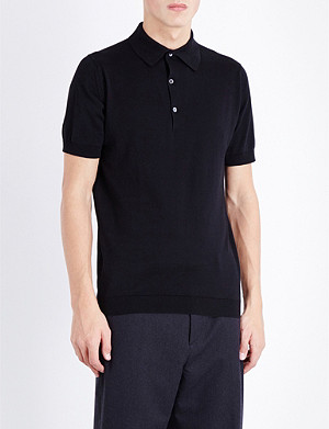 JOHN SMEDLEY Sea Island cotton polo shirt