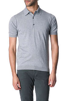 JOHN SMEDLEY Adrian slim-fit knitted polo shirt