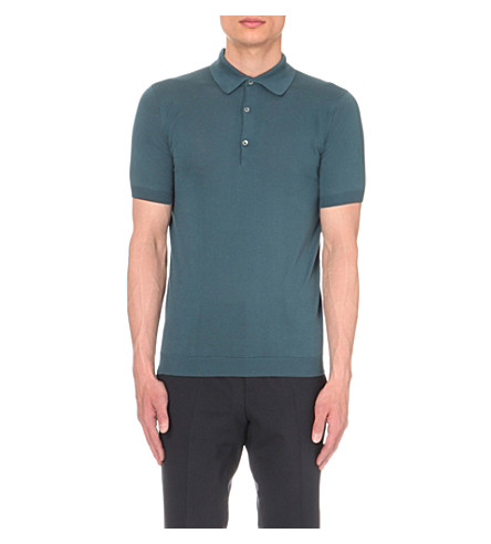 JOHN SMEDLEY Adrian cotton polo shirt (Brando+blue