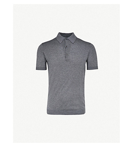 JOHN SMEDLEY Adrian cotton polo shirt (Charcoal