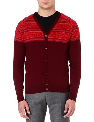 JOHN SMEDLEY Avenue Fair Isle wool cardigan