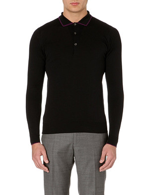 JOHN SMEDLEY Bamburgh merino wool polo shirt